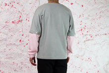 Load image into Gallery viewer, Green sweatshirt with pink removable sleeves