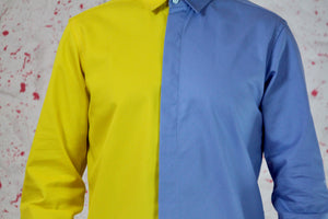 Blue yellow shirt