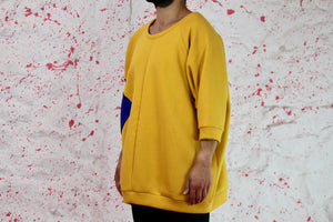 Oversized yellow sweatshirt