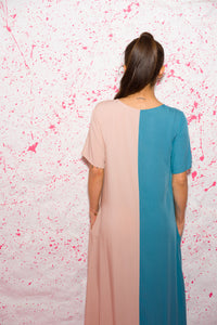 Two colors dress