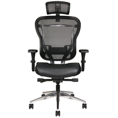 Aloria Series Leather Office Chair with Headrest