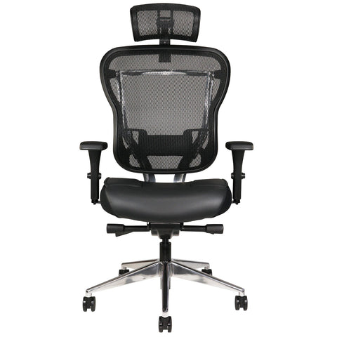 OHF Aloria Series Leather Office Chair - with Headrest