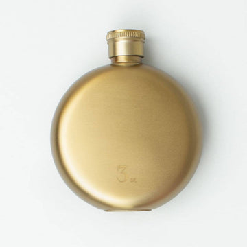 Gold 3oz Flask