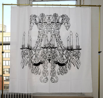 Chandelier by Alexa Pulitzer Canvas Shower Curtain