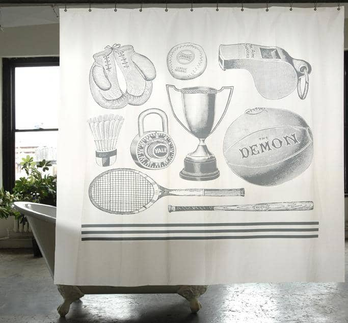 Sport Canvas Shower Curtain