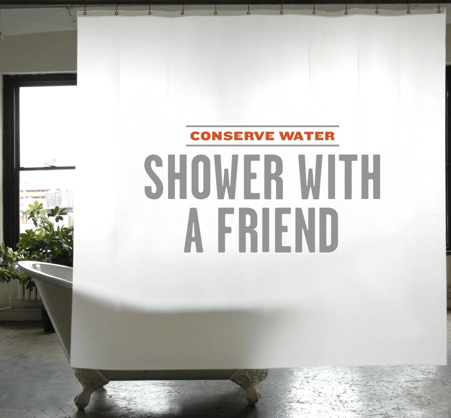 Practice Conservation Shower Curtain