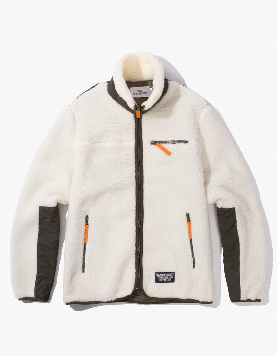Fleece Zip Up Jacket - Cream
