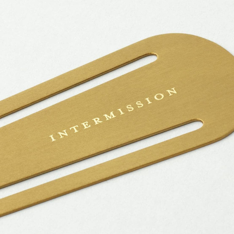Intermission Brass Bookmark