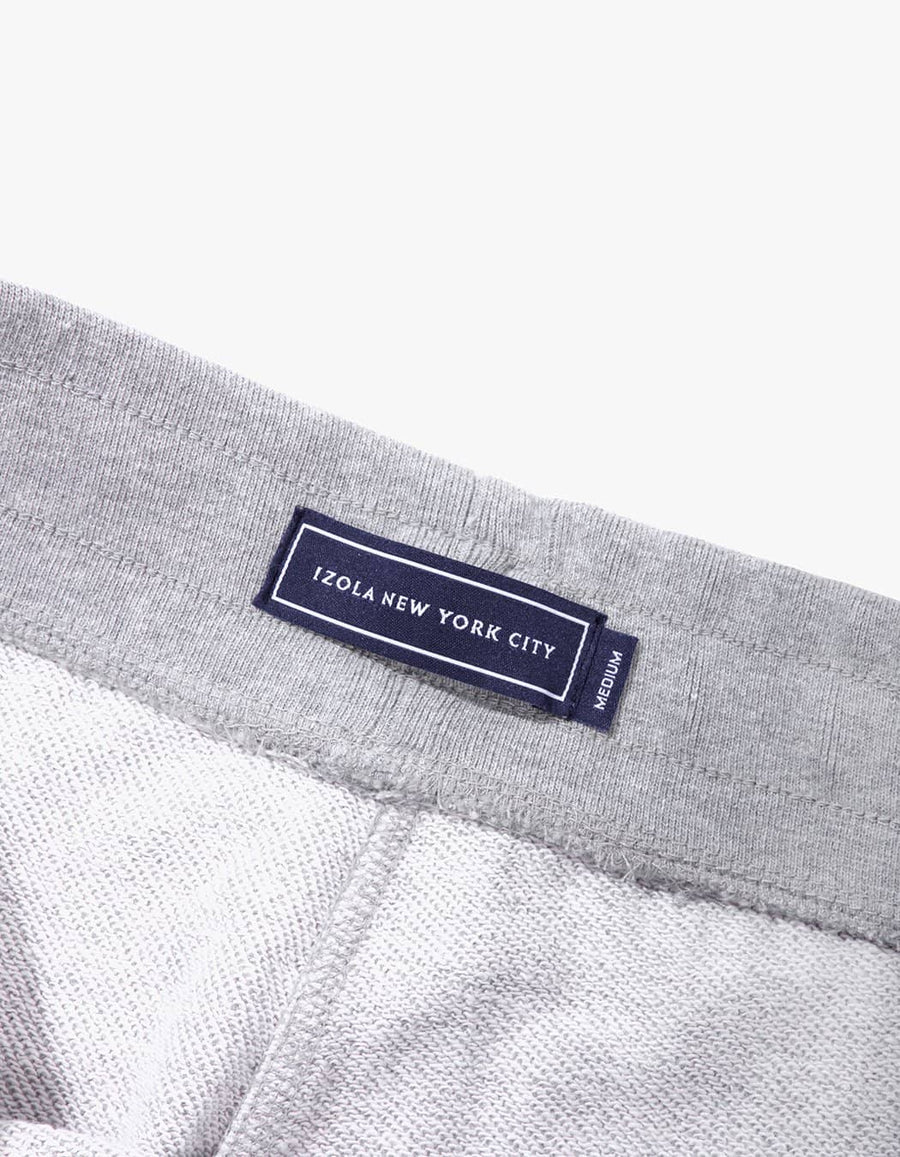 MIDWEIGHT TERRY SWEAT SHORTS - GRAY