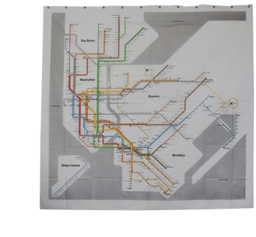 MTA New York City Transit Map PEVA Shower Curtain