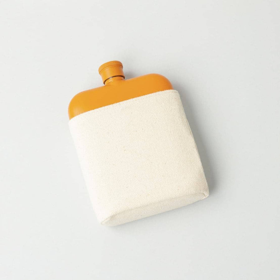 Orange 6oz Flask with Canvas Carrier