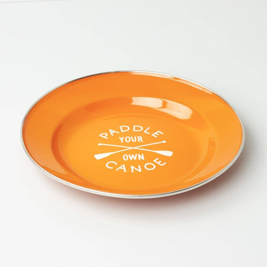 Paddle Your Own Canoe Enamel Plate