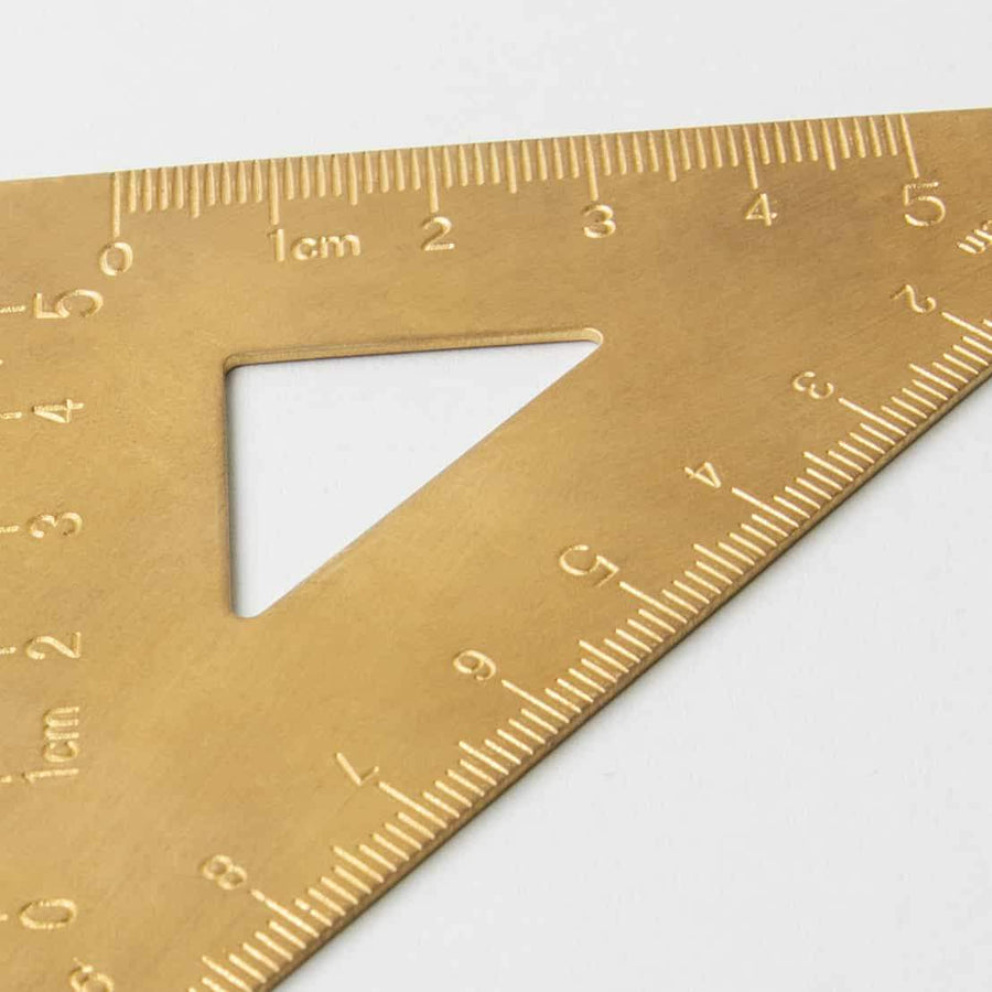 BRASS SET SQUARE