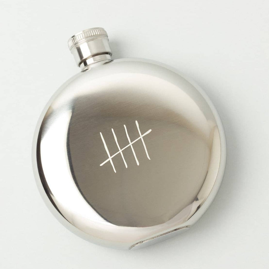 Tick Marks 5oz. Flask