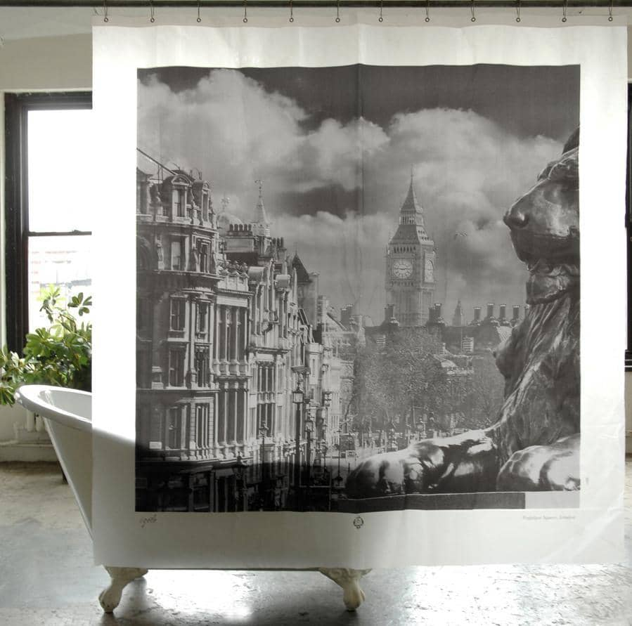 Trafalgar Square London PEVA Shower Curtain