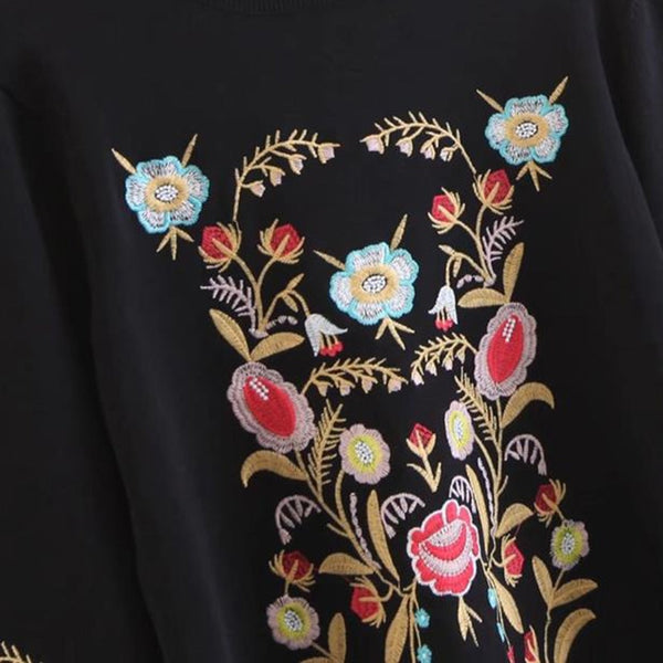Black Sweater with embroidery