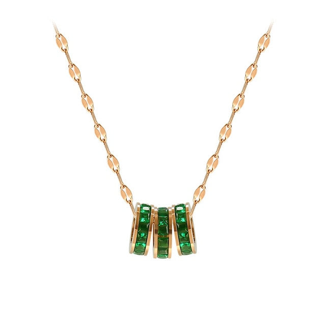 Green CZ necklace