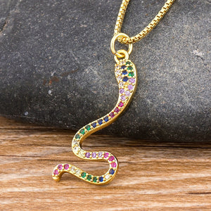 Rainbow snake necklace