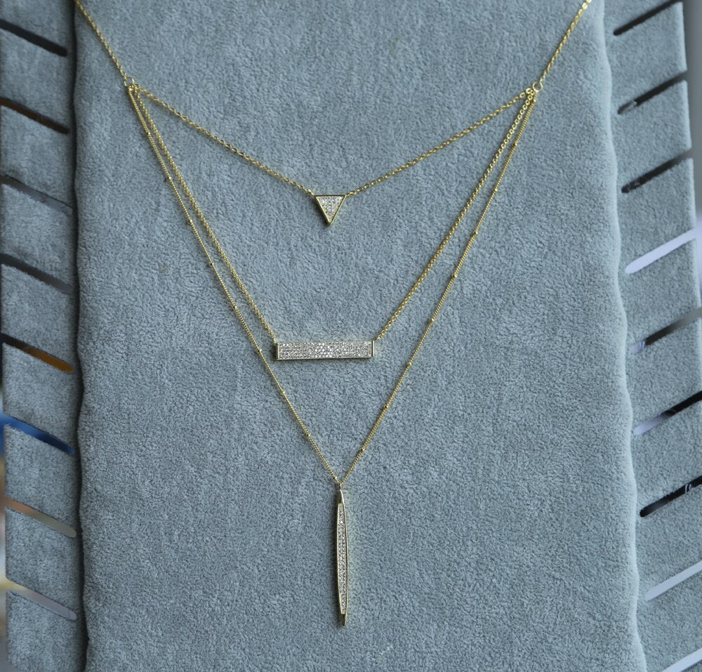 Eiffel zircon necklaces