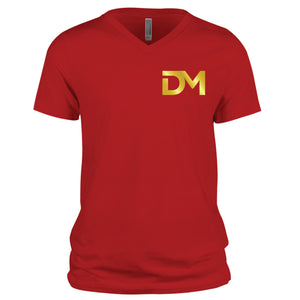 Red DM V-Neck T-Shirt