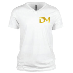 White DM V-Neck T-Shirt