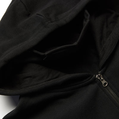 Speedway Zip Up Hoodie - Black (Built in Neck Gaiter)