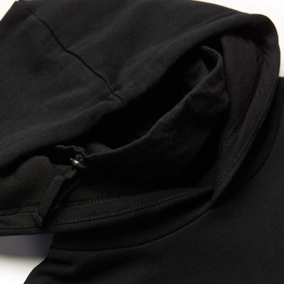 Speedway Hoodie - Black (Built in Neck Gaiter)