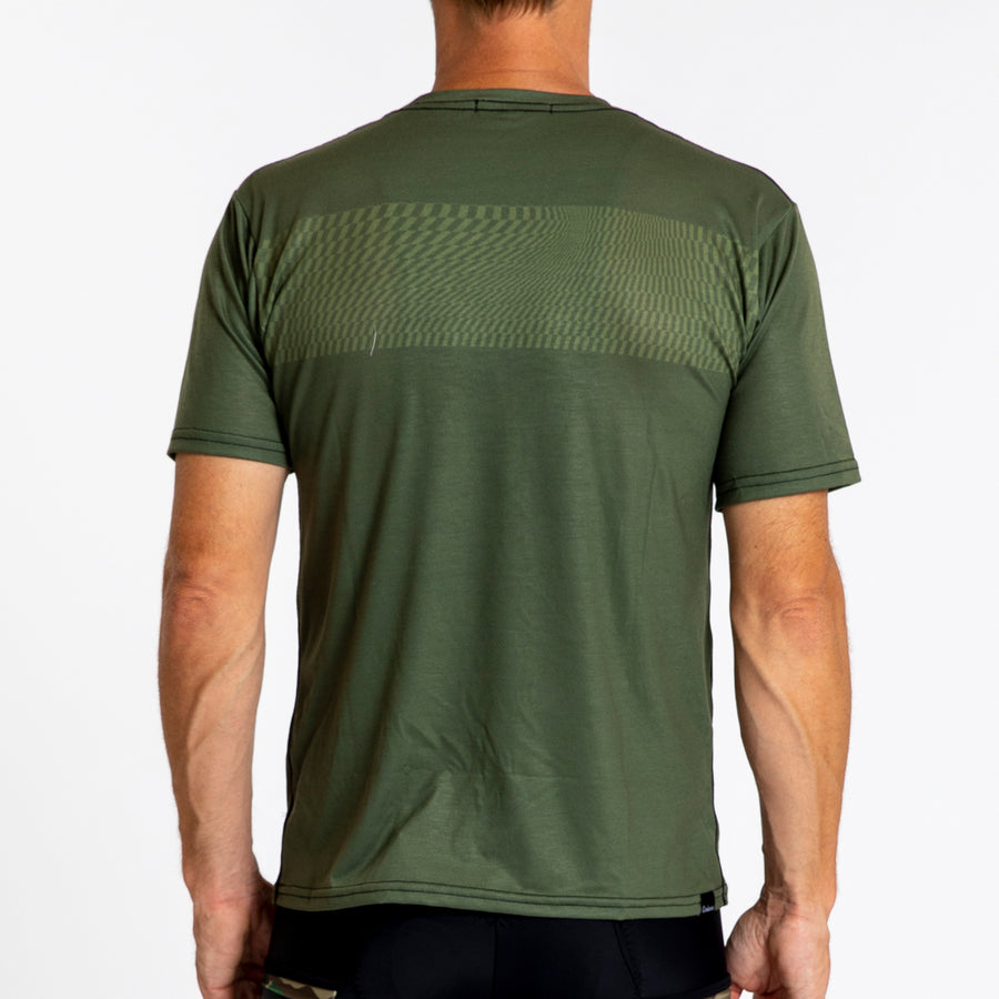 Adventure T-Shirt - Olive Swirl Stripe
