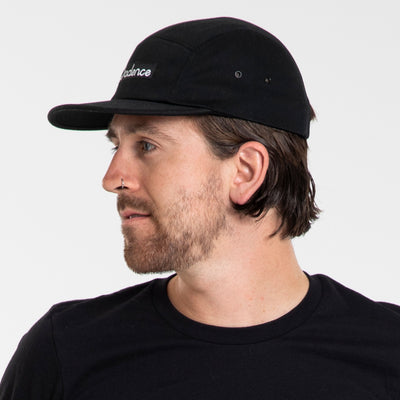 Finn 5-Panel Hat - Black