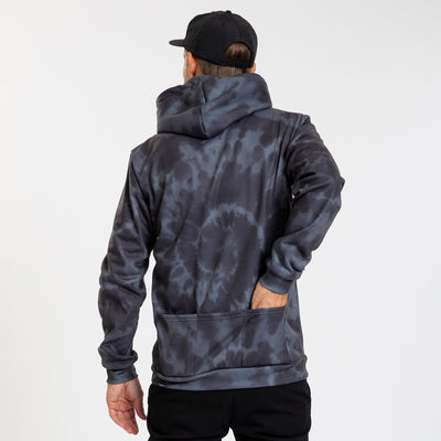 Pull Over Hoodie - Script Trip - Faded Black