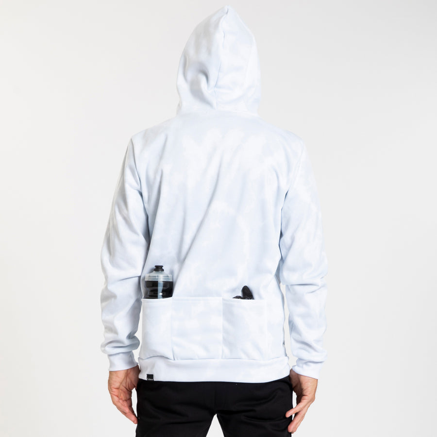Pull Over Hoodie - Script Trip - Faded White