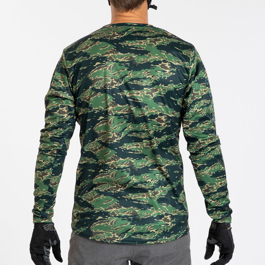 Longsleeve Adventure T - Tiger Camo