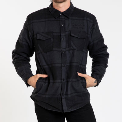 Johnsburg Flannel - Black/Grey