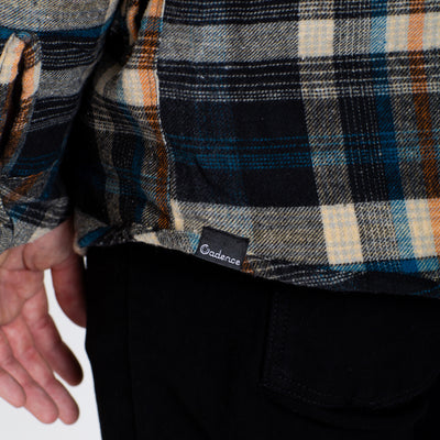 Johnsburg Flannel - Beige/Navy