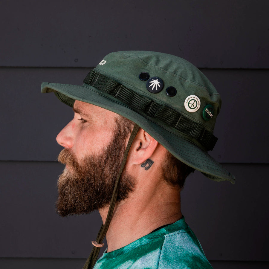 Smoked Adventure Hat - Olive