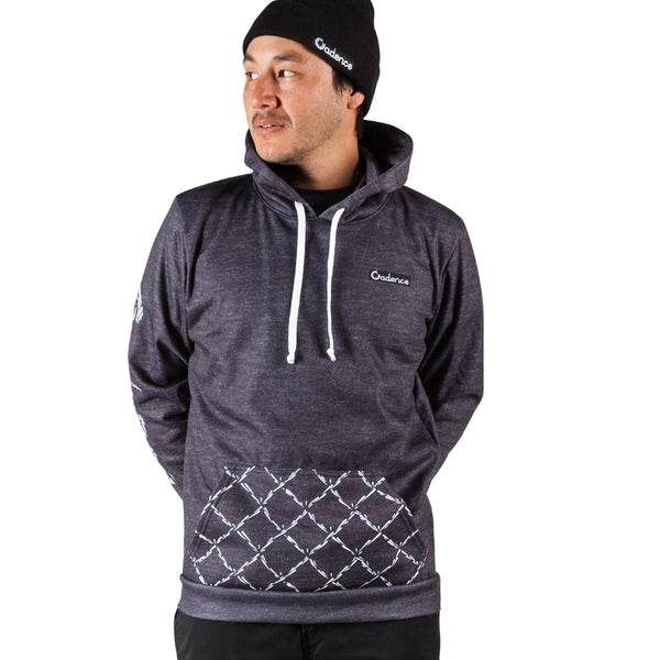Commotion Pull Over Hoodie - Heather Black