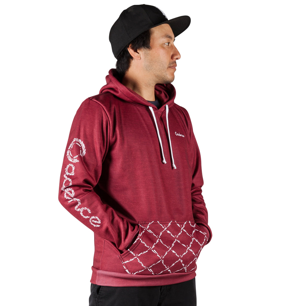 Commotion Pull Over Hoodie - Heather Burgundy