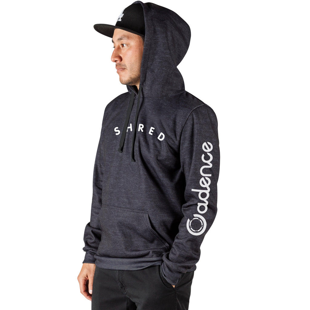 Shred Pull Over Hoodie - Heather Black