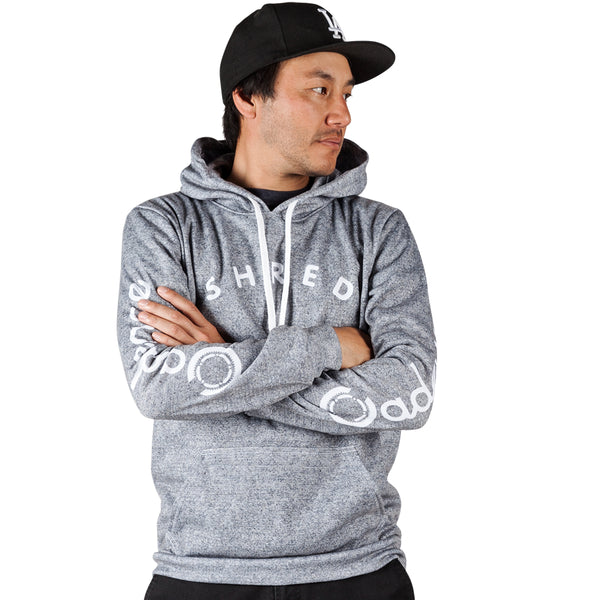 Shred Pull Over Hoodie - Heather Grey