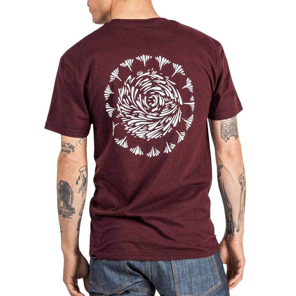 Script Plus T-Shirt - Burgundy Pepper