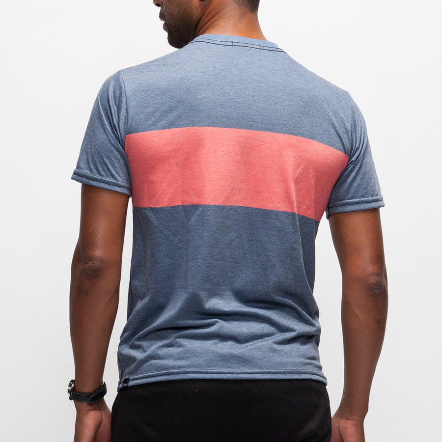 Stripe Adventure T-Shirt - Heather Navy