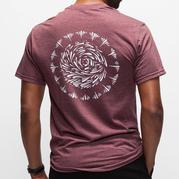 Commotion T-Shirt - Burgundy Heather