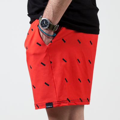 Lewitt Swim Shorts - Red