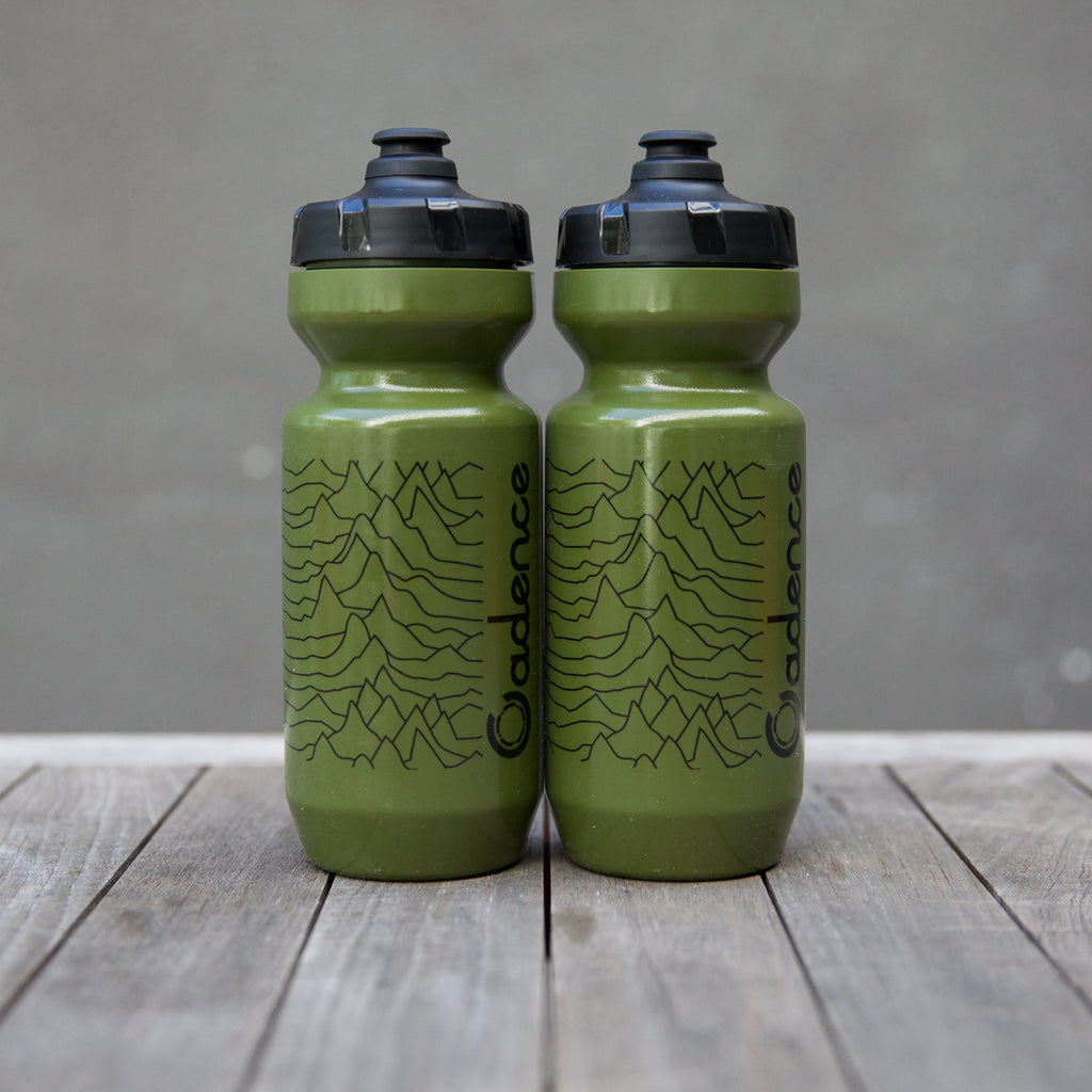 Pulsar Water Bottle - Olive/Black - Two Pack