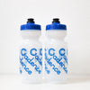 Faded Water Bottle - Clear / Blue cap