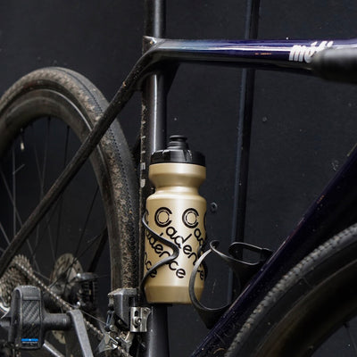 Faded Water Bottle - Black/Gold