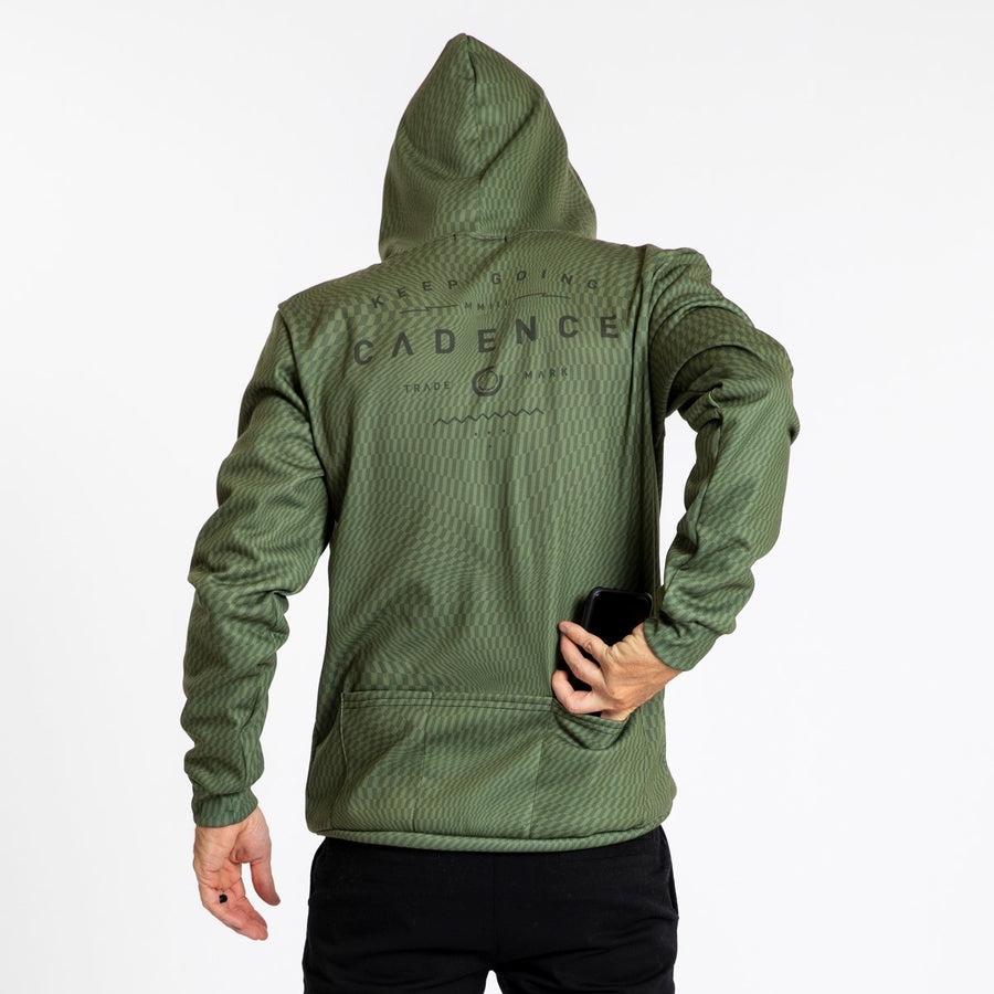 Swirl Pull Over Hoodie - Olive