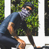 Neck Gaiter - S-MILES Bubblin - Black/White