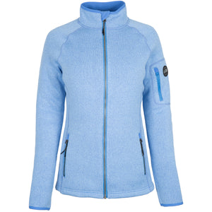 Women's Knit Fleece Jacket Light Blue