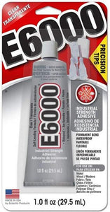 E6000 Craft Adhesive with Precision Tips - 1 fl oz - Clear